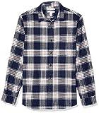 Amazon Essentials Men's Slim-Fit Long-Sleeve Flannel Shirt, Blue/Red Tartan, XX-Large