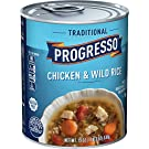 Progresso Traditional, Chicken and Wild Rice Soup, Gluten Free, 19 oz Cans, Pack of 12