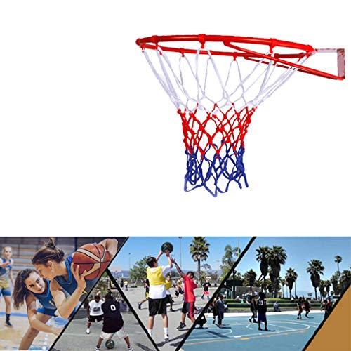HangRing Basketballkorb Basketballnetz Basketball Basketballring mit Ring und Netz Abmessungen: Ø 45 cm Basketballkorb Standard Basketball Korb Strapazierfähiges Basketball Netz