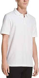 DKNY Men's Solid Pique Cotton Short Sleeve Polo Shirt