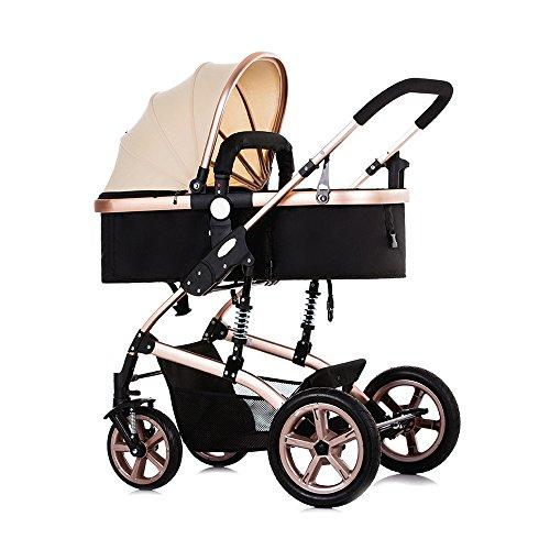 Baby Kinderwagen Travel System, Faltbare Baby Kinderwagen Buggy mit Sonnenschutz, vier Rad verstellbar Baby Kinderwagen Baby Jogger mit explosionsgeschützter Hinterrad
