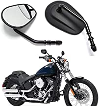 Motobiker 1Pair Side Mirrors for Sportster XL 883 1200 Road King V-Rod Street Glide Electra Glide Dyna Softail 1982-2018