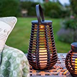 2er Set LED Solar Laterne Rattan Windlicht Lights4fun - 5