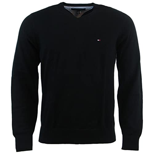67deeb1e Tommy Hilfiger Men's V-Neck Long Sleeve Pacific Pullover Sweater