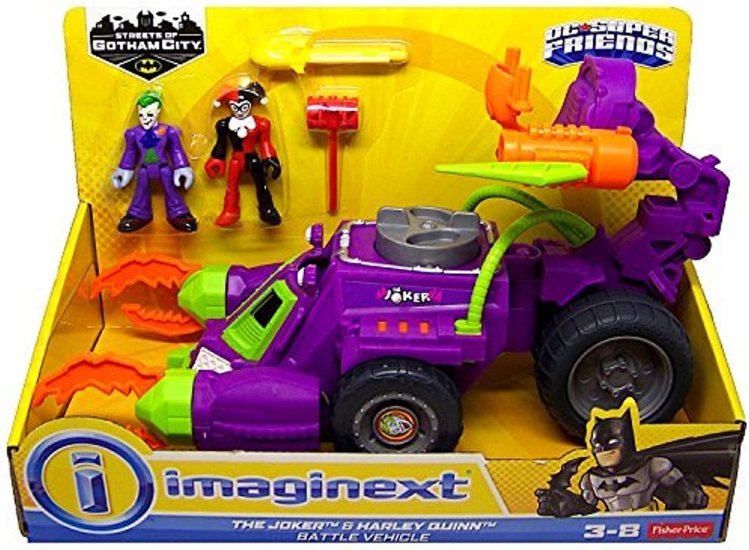 autentico en linea The Joker & Harley Quinn Battle Battle Battle Vehicle DC súper Friends Streets of Gotham City Imaginext by DC Comics  producto de calidad