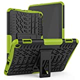 ROISKIN for 10th Gen Tablet 8/8 Plus Case Cover Not for Samsung Tab A Tablet 8 inch Case Dual Layer Anti-Slip Shockproof Armor Protective Case with Kickstand,Green