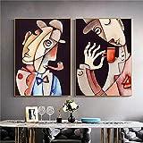 Odtis Abstract Picasso Lienzo Pintura Famosos Posters E Impresiones Arte De La Pared Fotos Para La Sala De Estar Decoración Del Hogar Cuadros. 50x75cm Framed