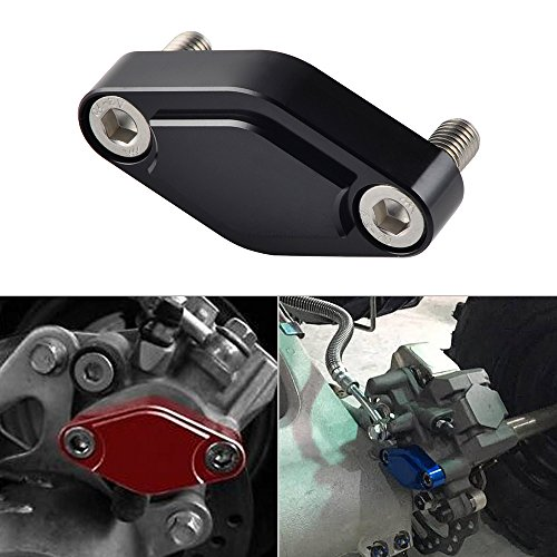 NICECNC Black CNC ATV Parking Brake Block Off Plate for Raptor 125,250,350,660,700,YFZ450/450R/X,Warrior 350,Banshee 350,TRX 450R/400EX/300EX,LTZ 400/LTR 450,KFX 400/450