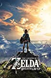 Sunset The Legend of Zelda: Breath of The Wild Poster, plástico y cristal, A3, 420 x 297 mm