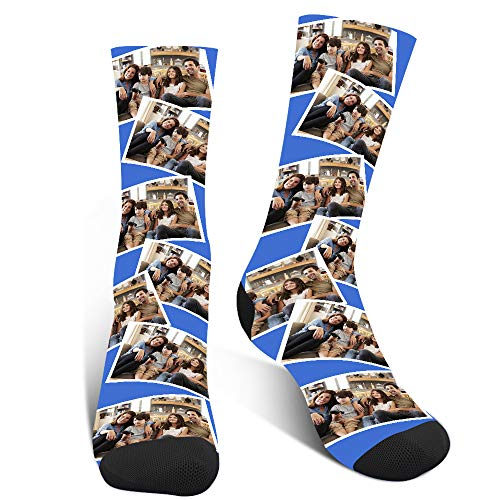Lustige Socken Personalisiert, Witzige Socken Mit Foto,Bunte Socken Herren,Verrückte Socken Damen,Familiensocken zum Jubiläum