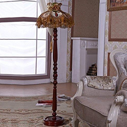 Home staande lamp, staande leeslamp, creatieve luxe staande lamp in Europese stijl Amerikaanse landelijke afstandsbediening met kleine tafel salontafel slaapkamer bedlampje woonkamer, B
