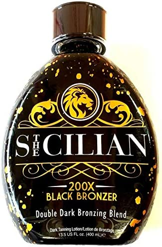 The Sicilian 200X Double Dark Black Bronzer Tanning Lotion 13 5 oz New 2021 Tan Lotion product image