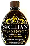 The Sicilian 200X Double Dark Black Bronzer Tanning Lotion 13.5 oz -...