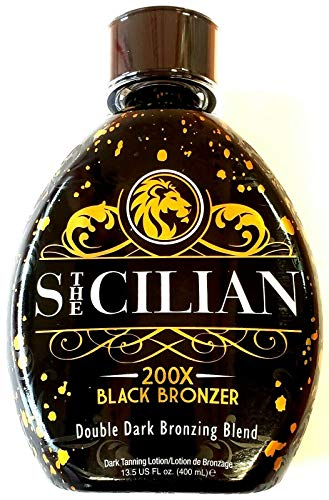 The Sicilian 200X Double Dark Black Bronzer Tanning Lotion 13.5 oz