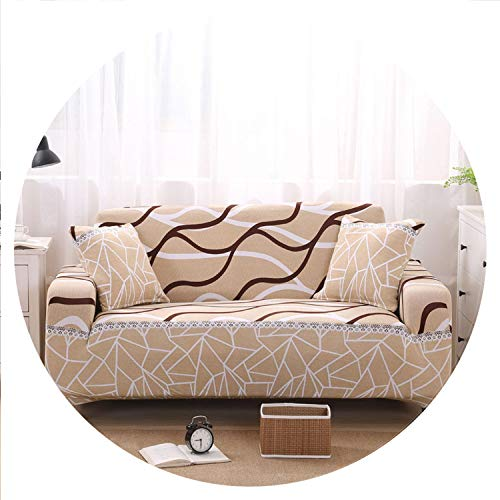 sensitives Beige Sofa Cover Stretch Furniture Covers Elastic Sofa Covers for Living Room Copridivano Slipcovers for Armchairs Couch Covers,Color 24,3-Seater(195-230cm)