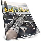 Dékokind® Tagebuch-Kalender: One Line A Day • Ca. A4-Format, Notizseiten & Zitate für jeden Monat • Buchkalender, Aufgabenplaner, Terminplaner • ArtNr. 32 Winterlich • Vintage Softcover