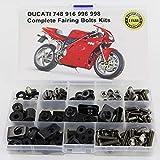 WONYAN Motocicleta Piezas For Ducati 748 916 996 998 accesorios de la motocicleta carenado completo Kit de Tornillos con OEM Estilo Lavadora Fastener Clips Tornillos tuercas de acero