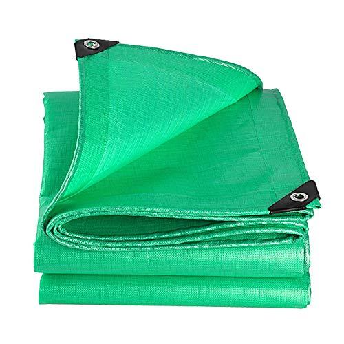 Heavy Duty Tarp Green - Durable Tarpaulin wasserdicht mit Ösen für Covering Gartenmöbel, Camping, Dachabdeckung - 220G / Meter Squared,6m×6m
