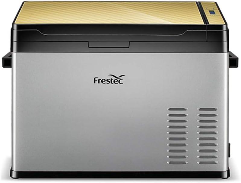 Mini Fridge 40 litros Frigorífico Congelador Portátil Refrigerador del Uso del Coche Nevera De Uso Doméstico con Compresor, Zona Dual, Pantalla LCD, -25 ° C ~ 30 ° C, 12V / 24V / 110V ~ 240V