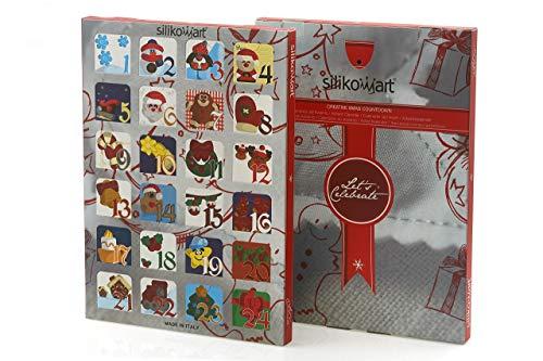 silikomart SLK820L51 2 Gift Box Calendario Avvento, Silicone, Multicolore