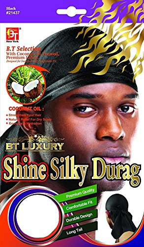 Beauty Town Shine Silky Durag (White)