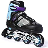 Nodens Adjustable Inline Skates Beginner Skates Fun Illuminating Roller Skates for All Boys and...