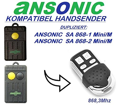 Ansonic SA 868-1 mini/M , Ansonic SA 868-2 mini/M kompatibel handsender, klone fernbedienung, 4-kanal 868.3Mhz fixed code. Top Qualität Kopiergerät!!!