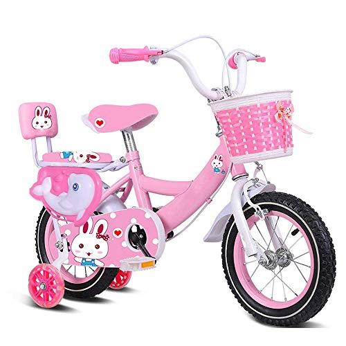 Kinderfahrrad Kinder Bike mit Stützrad und Dolphin Leitschiene, Kinderfahrrad 12 14 16 18 20 Zoll, Kind Fahrrad Geeignet for 2-15 Jahre alt 33 '- 57' Tall Kind Fahrrad ( Color : Pink , Size : 14in )