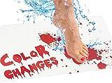 xingletu - Tappetino da bagno con sangue che cambia colore e sanguinante diventa rosso quando bagnato, tappetino da doccia per bagno, doccia, Halloween