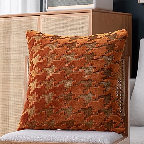 Kissenbezug Pluszeichen leichter Luxusstil hohe Präzision (kein innerer Kern) quadratisches Kissen moderne Sofadekoration Taillenrückseite 45cm