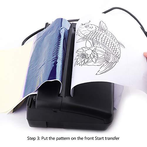 Black Tattoo Transfer Stencil Machine Thermal Copier Printer with Bonus Papers …