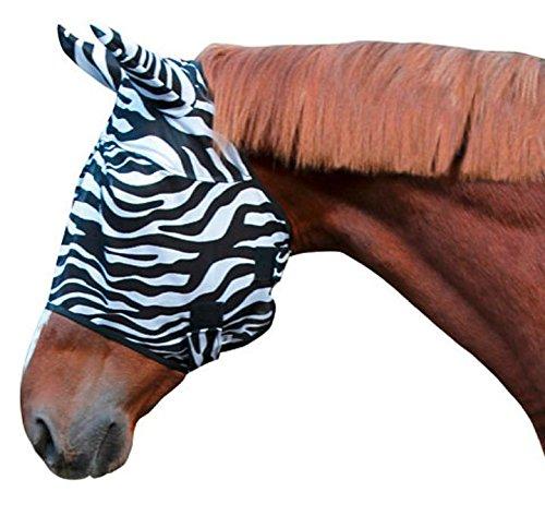 Kerbl 326119 Vliegenmasker Zebra inclusief oorbescherming, pony