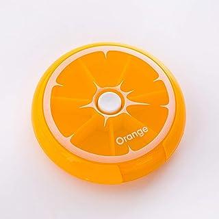 One Week Pill Box Portable Pill Medicine Packaging Medicine Storage Box Cute Vitamin Box Small Carry LIUXIN (Color : Orange, Size : 9cm×2cm)