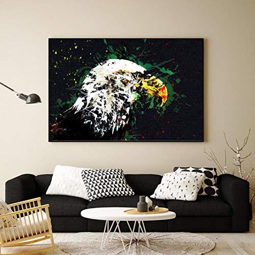 kldfig groothandel abstract schilderij grote aquarel adelaar kop poster en afdrukken canvas afbeeldingen voor woonkamer Home Decor- 40x50cm niet ingelijst