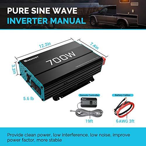 Renogy 1000W 12V Pure Sine Wave off GRID Solar Home Use Solar Inverter 1000 Watt Power Battery Converter