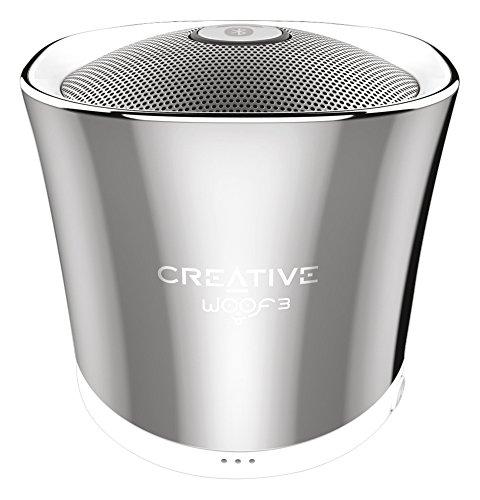 Creative Woof 3 Bluetooth MP3/FLAC Speaker (Winter Chrome)