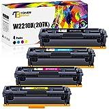 Cartucho de tóner compatible con HP 207X 207A para HP Color LaserJet Pro MFP M283 M283fdw Toner HP Color LaserJet Pro M255dw M282nw W2210A W2210X W2211X W2212X W2213X (sin chip)
