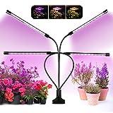 Otdair 120 LED plant grow light, luz de planta de interior de espectro completo de 4 cabezas con temporizador 3/9/12 H, luz de crecimiento de planta regulable de 9 niveles.