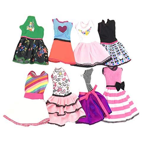 Chowceng Farbe Random Short Schöne Puppe-Mädchen-Kleidung-Kleid-beiläufige reizende Spielzeug-Röcke Kinder Zubehör