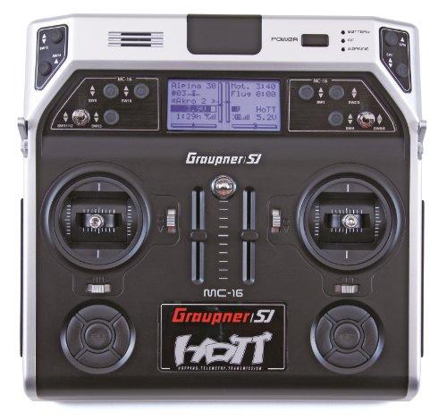 Graupner 33016 - Zubehör - MC-16 Hott 2.4 GHz Fernsteuerung 8 Kanäle