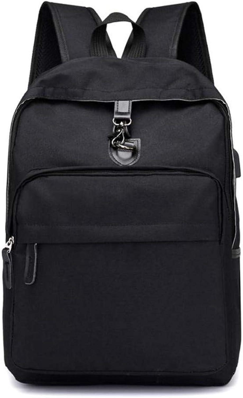 AWMYHKDW USB Charge Classic Backpack Women Rechargeable Backpack Men School Travel Nylon Backpacks Double Shoulder Bag Zipper Rucksack