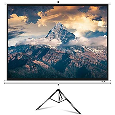 Projector Screen with Stand, ELEPHAS Projection Screen with Tripod Stand for Home Theater Movie, 100 Inch 4: 3 4K HD, Indoor Outdoor Pull Down Wrinkle-Free, 160° Viewing Angle(1.1 Gain)