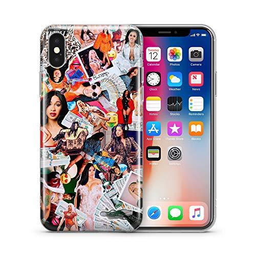iPhone X Case, Aertemisi Clear TPU Soft Slim Flexible Silicone Cover Phone Case for Apple iPhone X/iPhone 10 (5.8'') - Cardi B