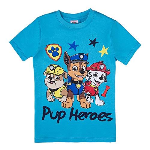 PAW PATROL Jungen T-Shirt, blau, Größe 116, 6 Jahre