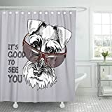 N / A Animales Grises Schnauzer Barba Canino Dibujos Animados Perros Lindos...