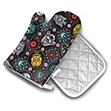 Star Wars Oven Mitts and Potholders (2-Piece Sets) - Extra Long Professional Heat Resistant Pot Holder & Baking Gloves - Food Safe