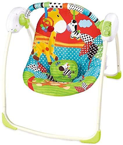 Elise Oscilación del bebé Silla de bebé Gorila sillas y mecedoras eléctricos de niño Plegable Silla de bebé apretón de música Multi-función de oscilación Azul sillón Cama Columpio Infantil
