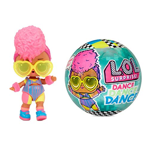 LOL Surprise Dolls Dance Dance Dance 8 Sorpresas - Incluye Pista de Baile Giratoria y Tarjeta de Baile, Muñecas Coleccionables para Niñas a Partir de 3 Años