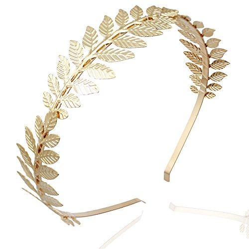RechicGu Gold Roman Leaf Branch Dainty Bridal Hair...