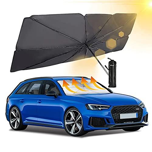Aoryoa Windshield Sunshade   Brella Shield for Car,Foldable Umbrella Sun Shade Car Blocks UV Rays Heat Keep Vehicle Cool - Automotive Interior Accessories for Sun Protection,Fit Most Vehicl
